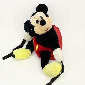 Vintage Disney Mickey Mouse Stuffed Backpack